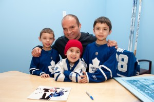 Tie Domi signs for Children at A.J. Sports World - Feb. 2012