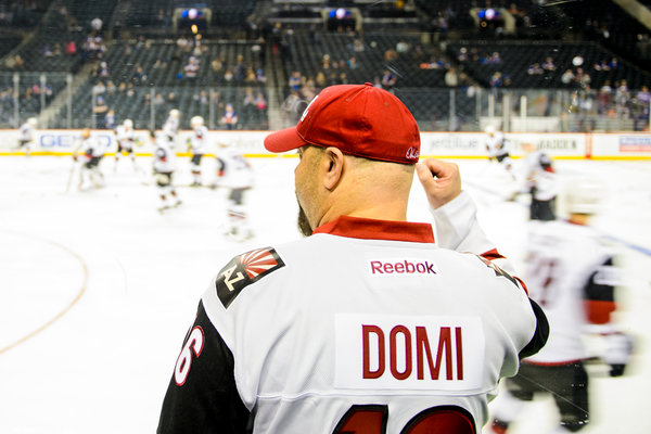 Max Domi, a speedy left wing who was a first-round pick in 2013, has his fans already. ALEX GOODLETT FOR THE NEW YORK TIMES
